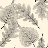 高细节最基本的叶子传染媒介无缝的样式 向量例证