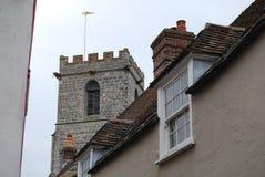 高耸和屋顶 免版税库存照片