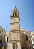 高耸在Zakynthos城镇 库存图片