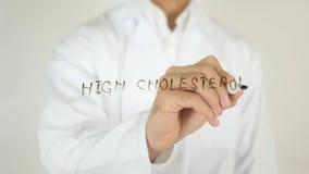 高胆固醇,写在玻璃 库存照片