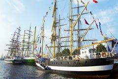 高船在里加赛跑2013年 库存图片