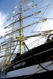 高船在里加赛跑2013年 免版税图库摄影