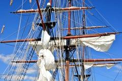 高船帆柱 免版税库存图片