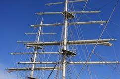 高船帆柱 免版税库存照片