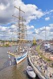 高船的决赛在什切青赛跑2017年 库存照片