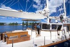高船种族科特卡2017年 科特卡,芬兰16 07 2017年 免版税库存照片