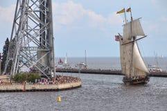 高船访问德卢斯,明尼苏达每三年 库存照片