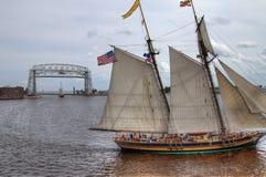 高船访问德卢斯,明尼苏达每三年 免版税库存图片