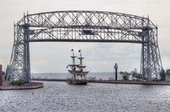 高船访问德卢斯,明尼苏达每三年 免版税库存照片