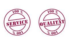高质量的服务印花税 图库摄影