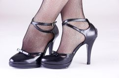 高跟鞋的夫人 库存图片