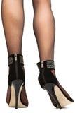 高跟鞋的妇女 免版税库存图片