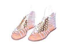 高跟鞋罗马鞋子 库存照片