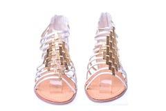 高跟鞋罗马鞋子 库存图片