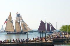 高追逐的船 免版税库存照片