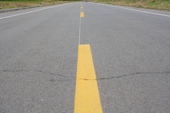 高速公路中心线 库存照片