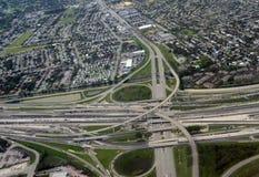 高速公路互换在南佛罗里达 免版税图库摄影