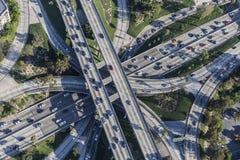 高速公路互换在街市洛杉矶 免版税库存图片