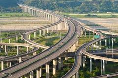 高速公路互换系统  免版税库存照片