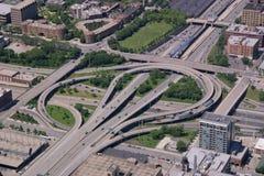 高速公路互换 免版税图库摄影