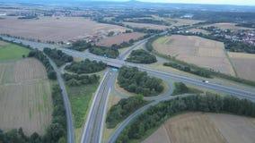 高速公路交叉点鸟瞰图 影视素材