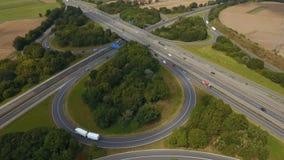 高速公路交叉点,鸟瞰图 股票视频