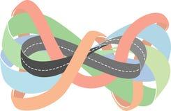 高速公路作为Moebius小条 免版税库存图片