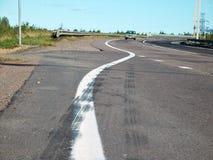 高速公路俄语 免版税图库摄影