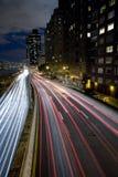 高速公路光 免版税库存图片