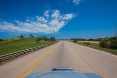 高速公路关门 库存照片