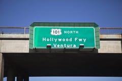 高速公路北部的好莱坞 库存照片