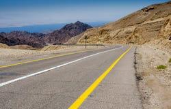 高速公路向死海 库存照片