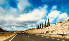 高速公路向马德里 库存照片