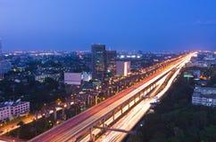 高速公路和业务量 图库摄影