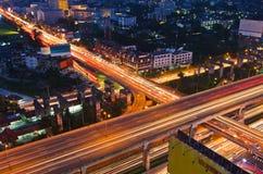 高速公路和业务量 免版税图库摄影