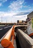 高速公路和天空 库存照片