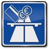 高速公路和收费公路费 库存图片