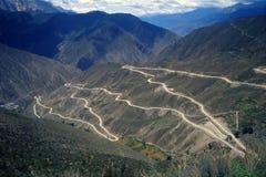 高速公路四川西藏 库存照片