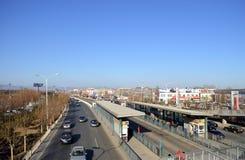 高速公路在北京在中国 库存照片