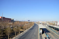 高速公路在北京 免版税库存图片