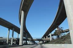 高速公路在南加州 免版税库存图片