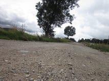 高速公路在土的小路方式 库存照片