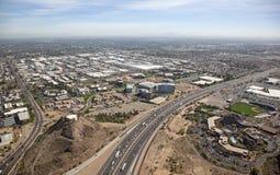 高速公路在坦佩,亚利桑那 免版税图库摄影