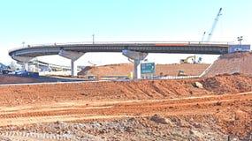 高速公路在格林维尔县SC的工程项目 免版税库存照片