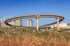 高速公路在汉城市 免版税库存图片
