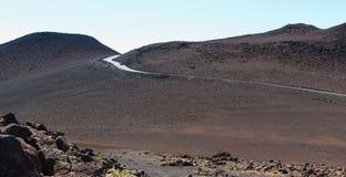 高速公路在沙漠 库存照片