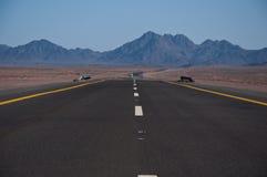 高速公路在沙特阿拉伯 库存照片