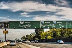 101高速公路在洛杉矶 库存照片