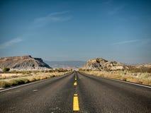 高速公路在盛大埃斯卡兰蒂犹他 免版税库存图片