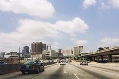 高速公路在美国 免版税库存图片